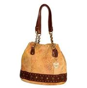 Ashley Leopard Print Handbag