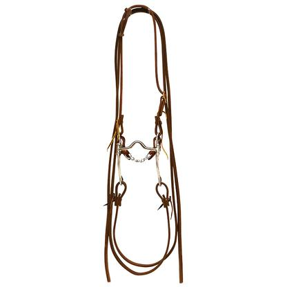 STT Bridle w/ FG Aluminim Medium Port Short Cheek Engraved Bit