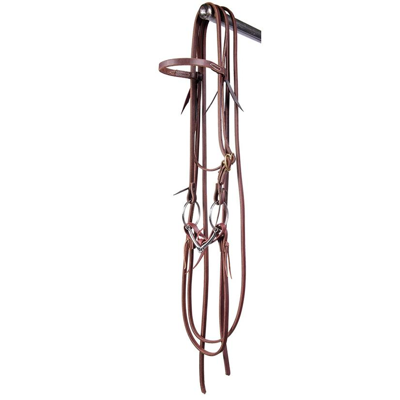 STT Bridle With Stainless Steel Ring Snaffle Bit