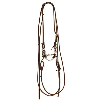 STT Bridle w/Antique Short S Transition Bit