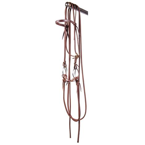STT Bridle w/Twisted Wire Smooth Copper Snaffle