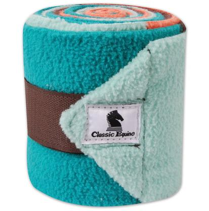 Classic Equine Polo Wraps CORAL/TEAL_CB