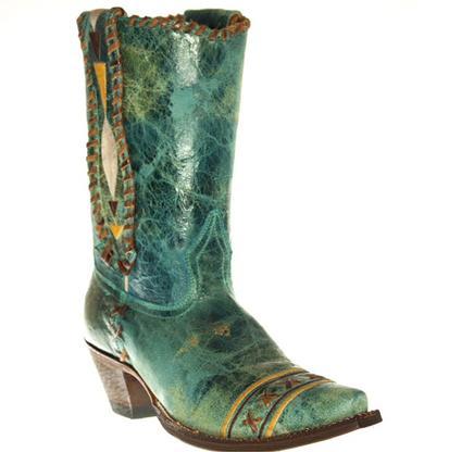 Johnny Ringo Turquoise Western Boots