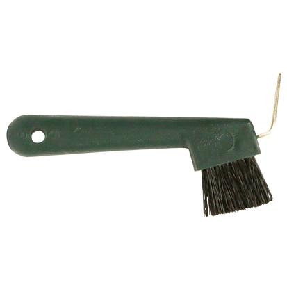 Hoof Pick with Brush GREEN