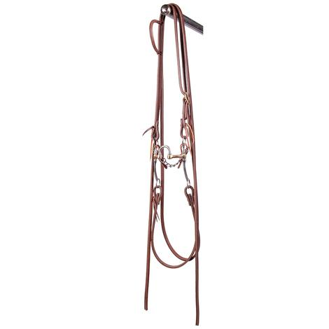 STT Bridle w/Stainless Steel Correction Bit with Split Reins
