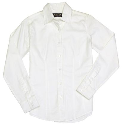 Miller Ranch Womens White Out Dress Shirt
