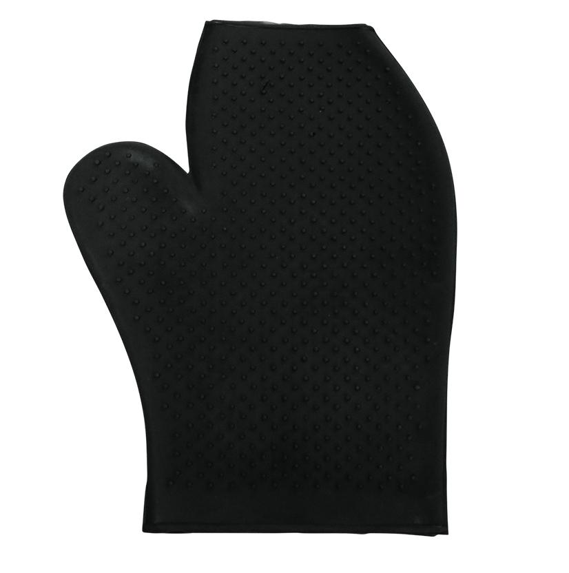 Rubber Massage Glove BLACK