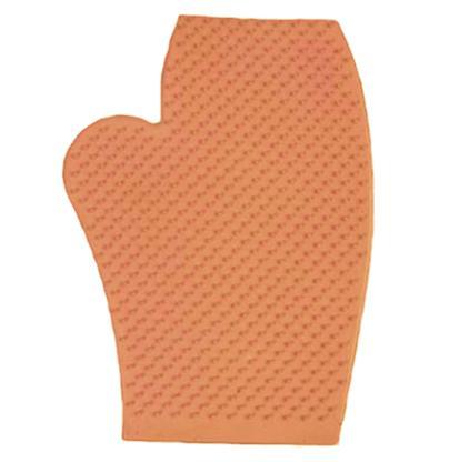Rubber Massage Glove ORANGE