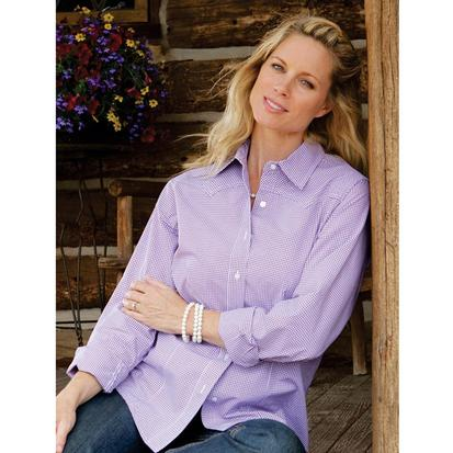 Miller Ranch Women's Accented Purple Dress Shirt