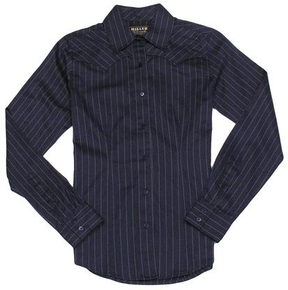 Miller Ranch Womens Navy Or Not Dress Shirt