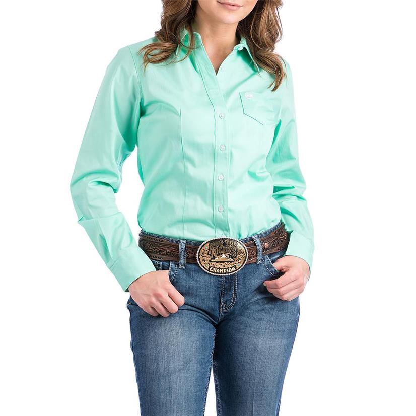 Cinch Womens Long Sleeve Shirt - Green