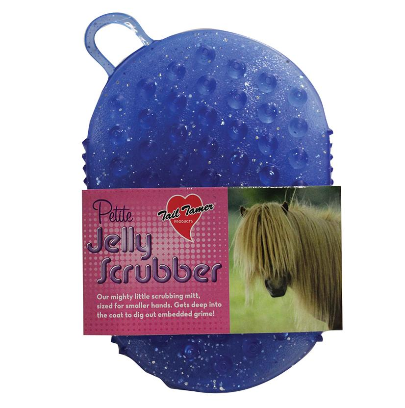 Tail Tamer Petite Jelly Scrubber BLUE