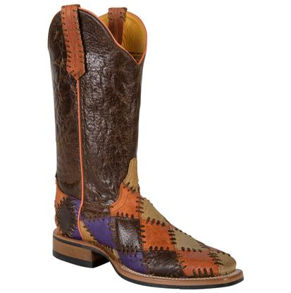 Cinch Women's Crackle Patchwork Western Boots