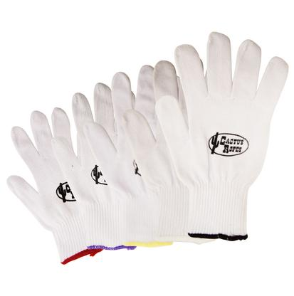 Cactus White Cotton Roping Gloves