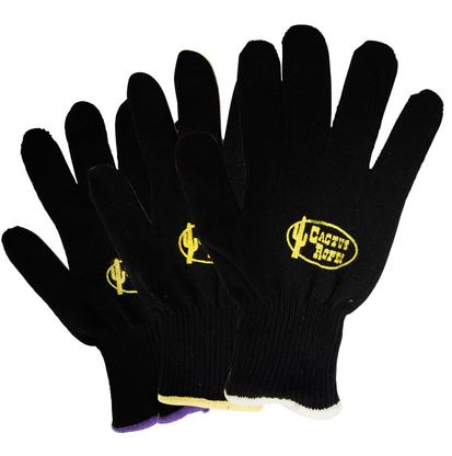 Cactus Black Cotton Roping Gloves