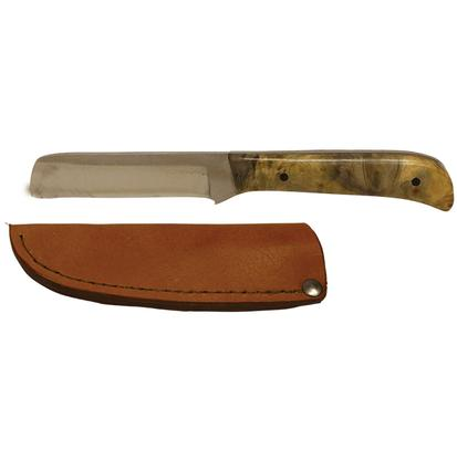 Razor Fixed Blade Knife with Buckeye Burl