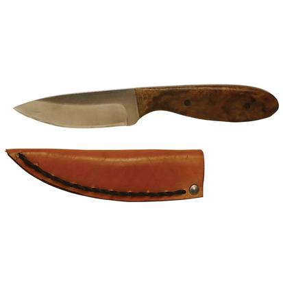 Cajun Skinner Fixed Blade Knife with Burl Oak