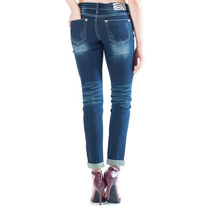Grace in LA Womens Circular Patchwork Jeans
