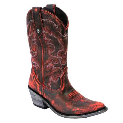 Liberty Black Vintage Rojo Cowgirl Boots