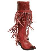 Liberty Black American Bootas - Red