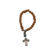 Chelsea Collette Saddlewood Cross Charm Bracelet