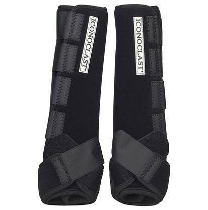 Iconoclast Extra Tall Hind Orthopedic Sport Boots BLACK
