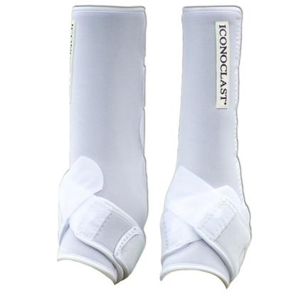 Iconoclast Extra Tall Hind Orthopedic Sport Boots WHITE