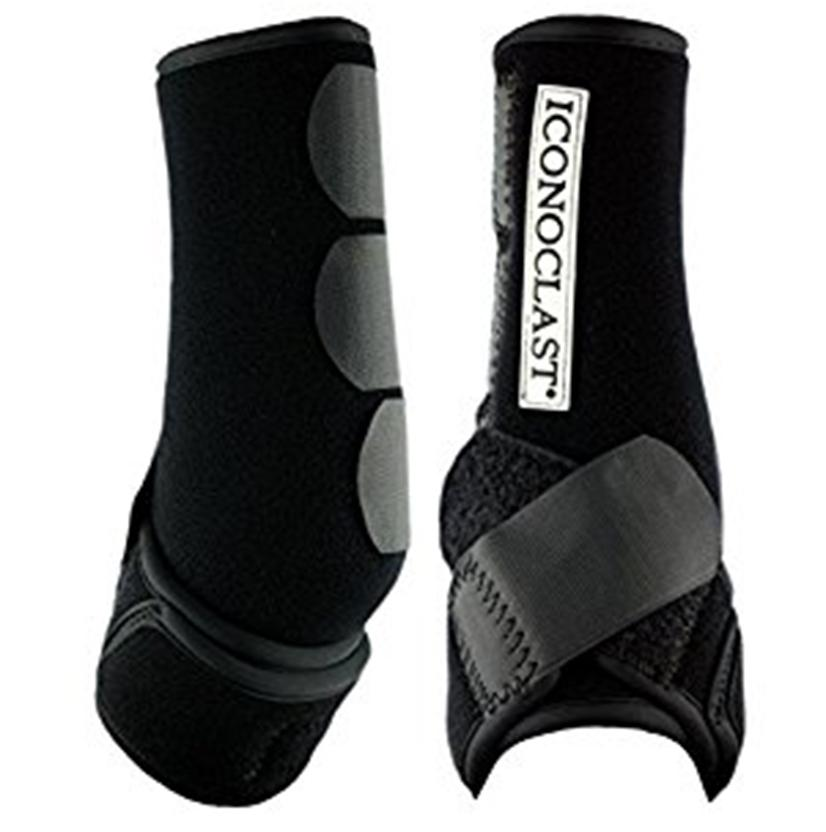 Iconoclast Orthopedic Hind Sport Medicine Boots for Horses BLACK