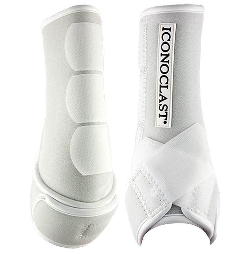 Iconoclast Orthopedic Hind Sport Medicine Boots for Horses WHITE