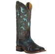 Cinch Full Quill Ostrich Boots W/Saddle Vamp