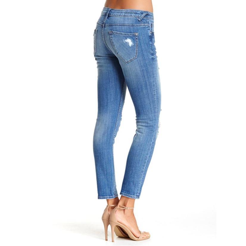 Vigoss Womens Thompson Destroyed Womens Jean