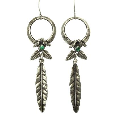 Sweet Bird Studio Love Birds & Feather Earrings