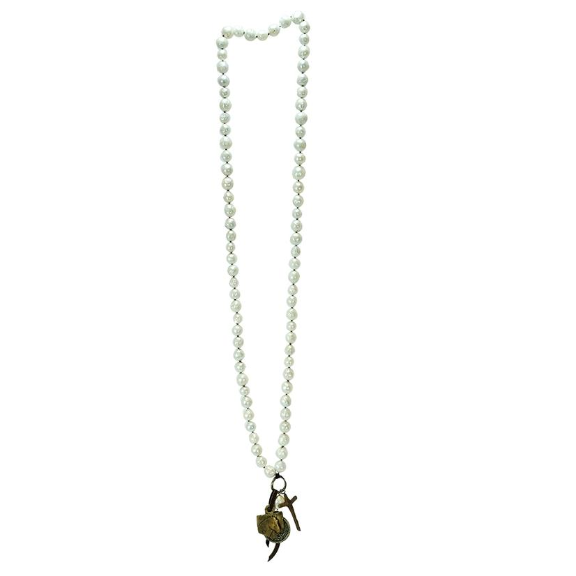 Love Tokens Pearls & Charms Necklace
