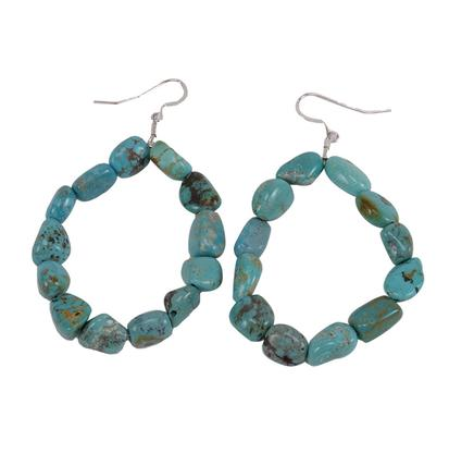 Chelsea Collette Collections Turquoise Hoop Earrings