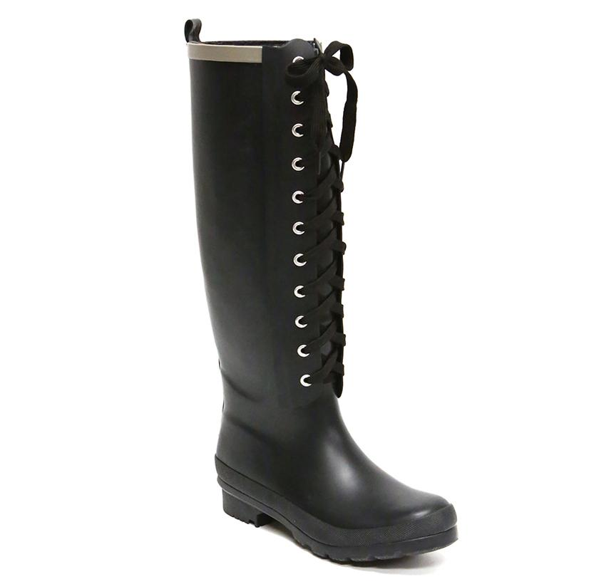 Lemon Collection Walking In The Rain Boots BLACK
