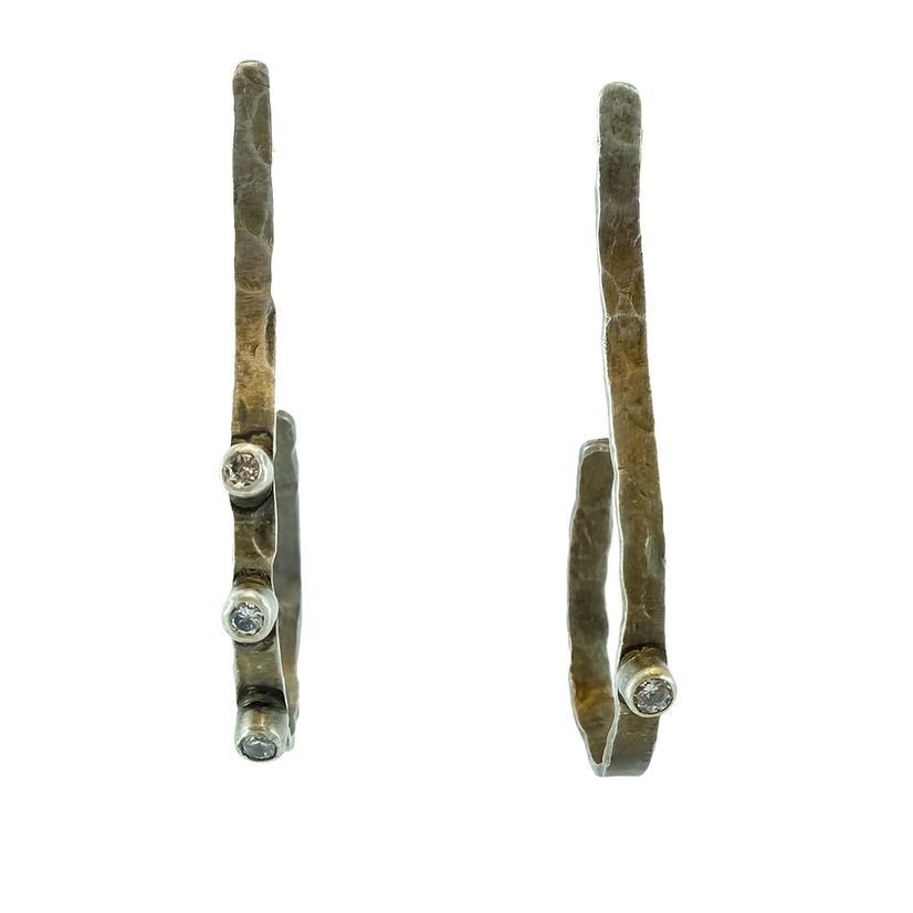 Love Token Silver S Loop Earrings