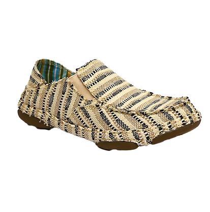 Tony Lama Black & Tan Canvas Casual Shoe
