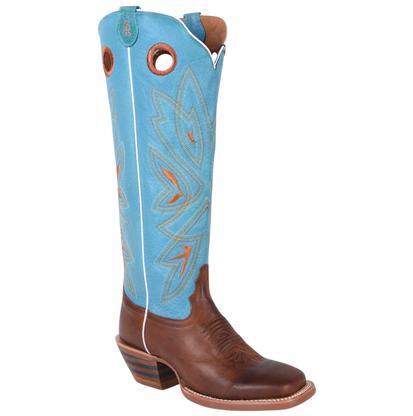 Tony Lama 3R Tan Turquoise Buckaroo Boots