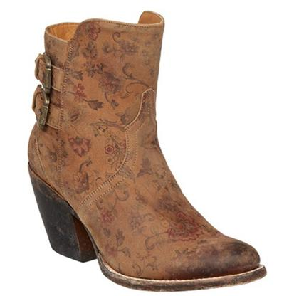 Lucchese Floral Shortie Boots