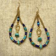 Ojo Turquoise Teardrop Earrings
