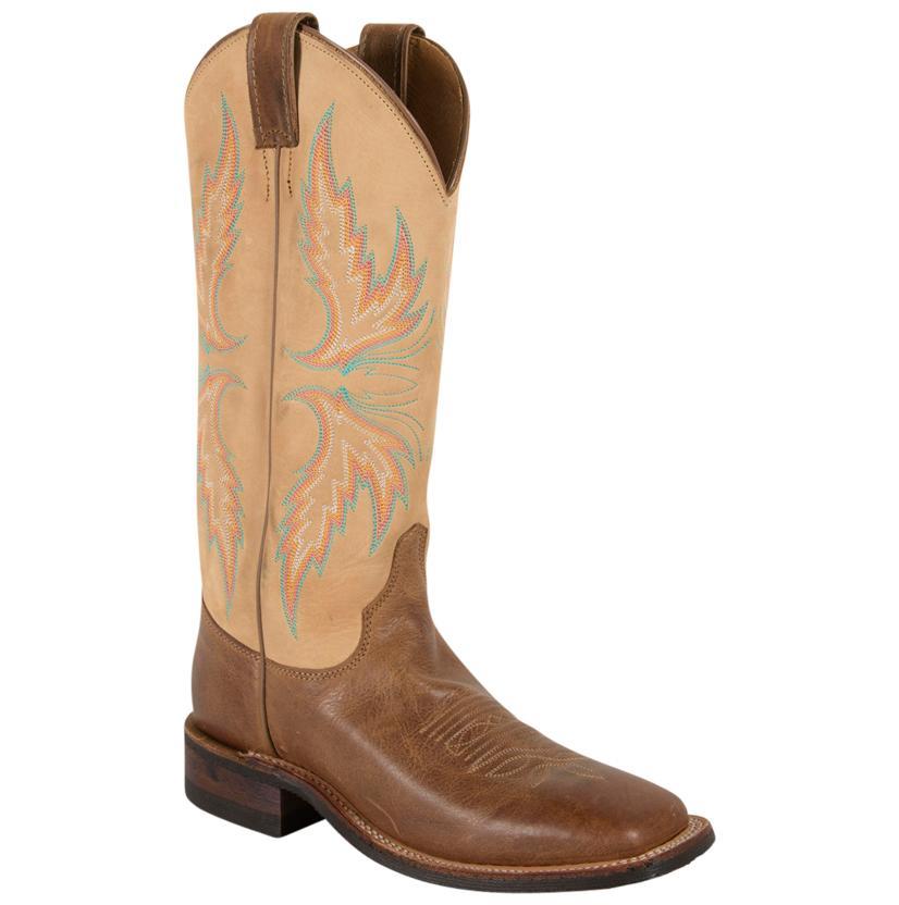 Justin Women's Bent Rail Arizona Mocha Square Toe Boots