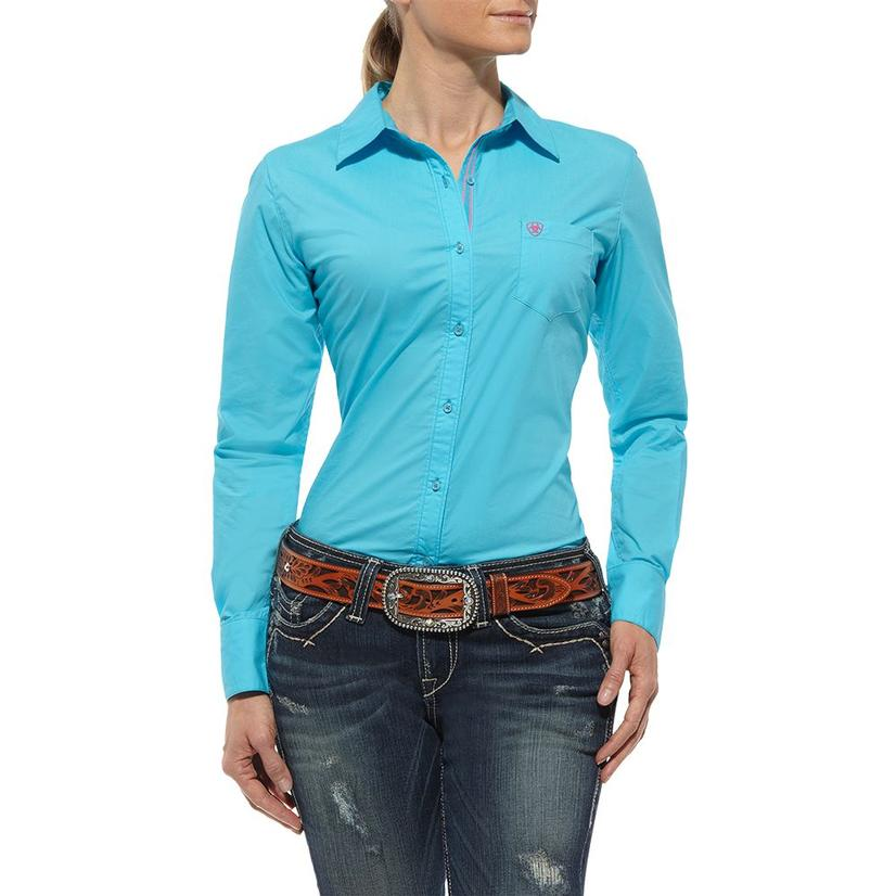 Ariat Womens Kirby Shirt - Turquoise