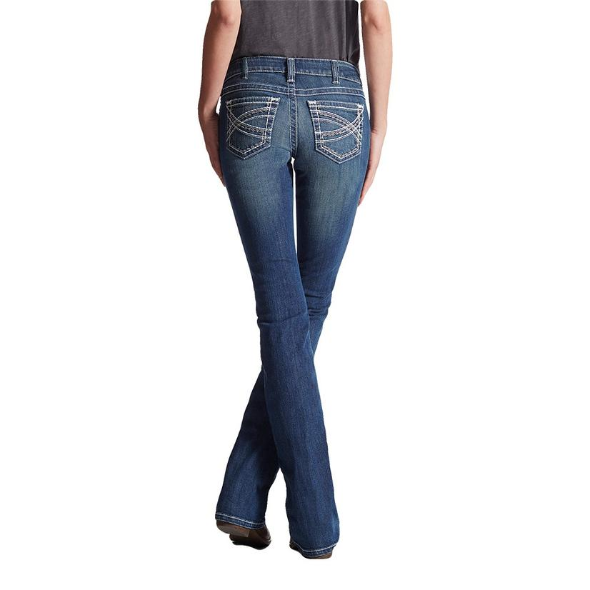 Ariat Womens R.E.A.L.Mid Rise Boot Cut Entwined Jeans