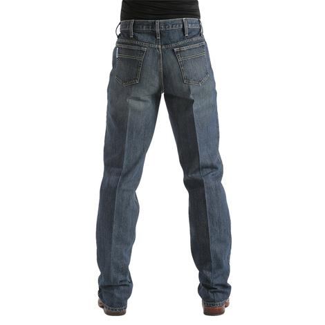 Cinch Mens White Label Relaxed Fit Straight Leg Jean - Dark Stonewash