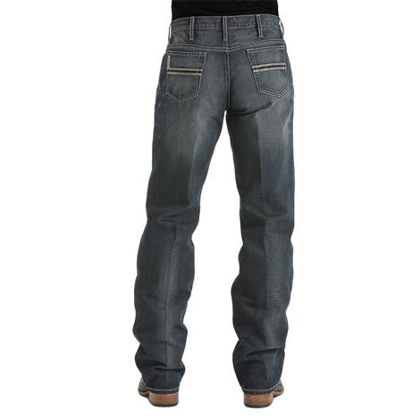 Cinch Mens White Label Dark Stone Tint Relaxed Fit Jeans