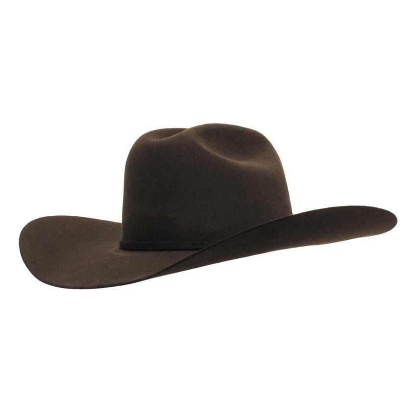 55fc126859b Rodeo King Low Rodeo 5x Felt Cowboy Hat CHOCOLATE