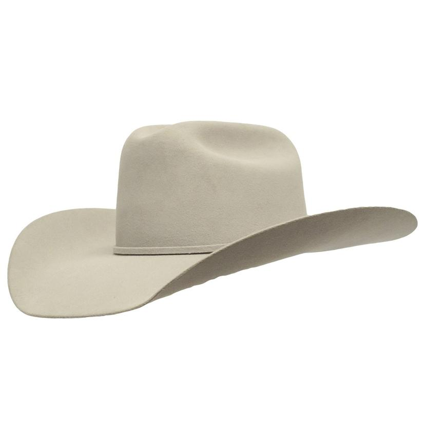 Rodeo King Low Rodeo 5x Felt Cowboy Hat SILVER BELLY c67a8dfd286