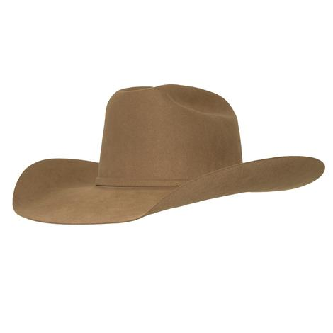 American Hat Company 40X Pecan Open Crown Felt Hat - 4.25 Brim