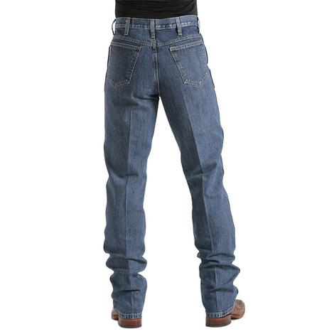Cinch Mens Bronze Label Slim Fit Original Rise Tapered Leg Jean - Dark Stonewash