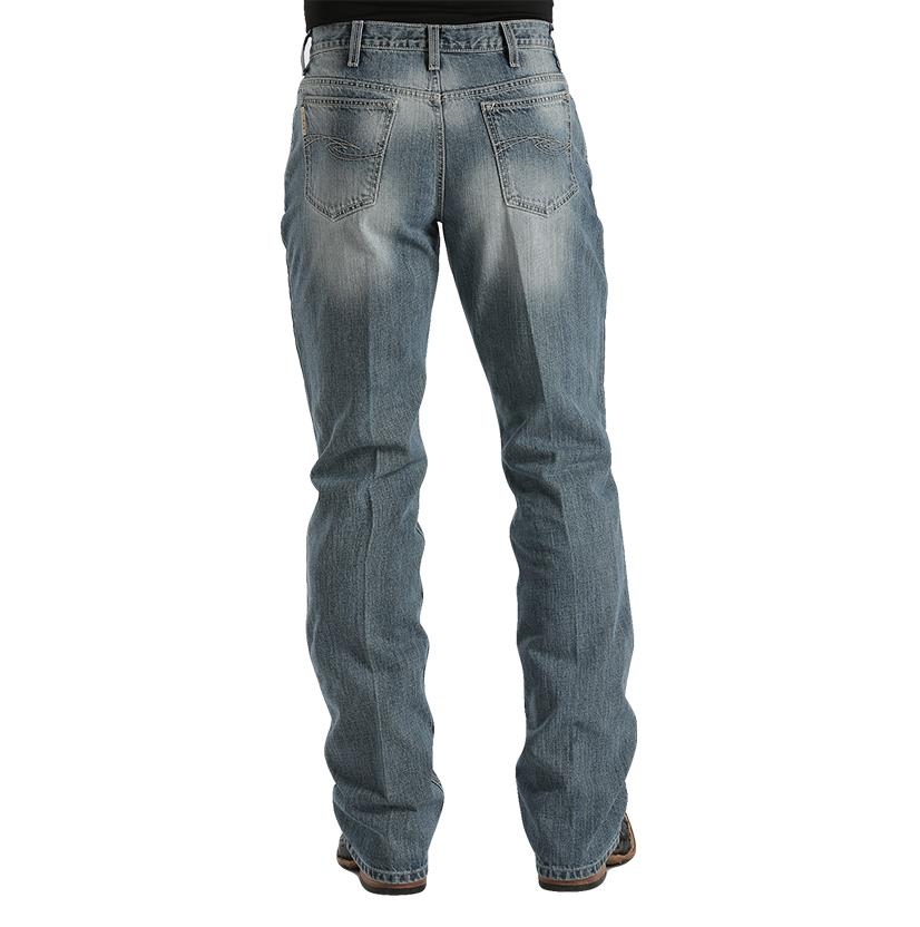 Cinch Mens Dooley Relaxed Fit Boot Cut Jean - Medium Stonewash